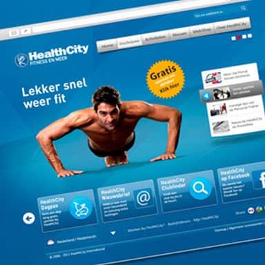 Case redesign website HealthCity in 2011 - door Fitbrand