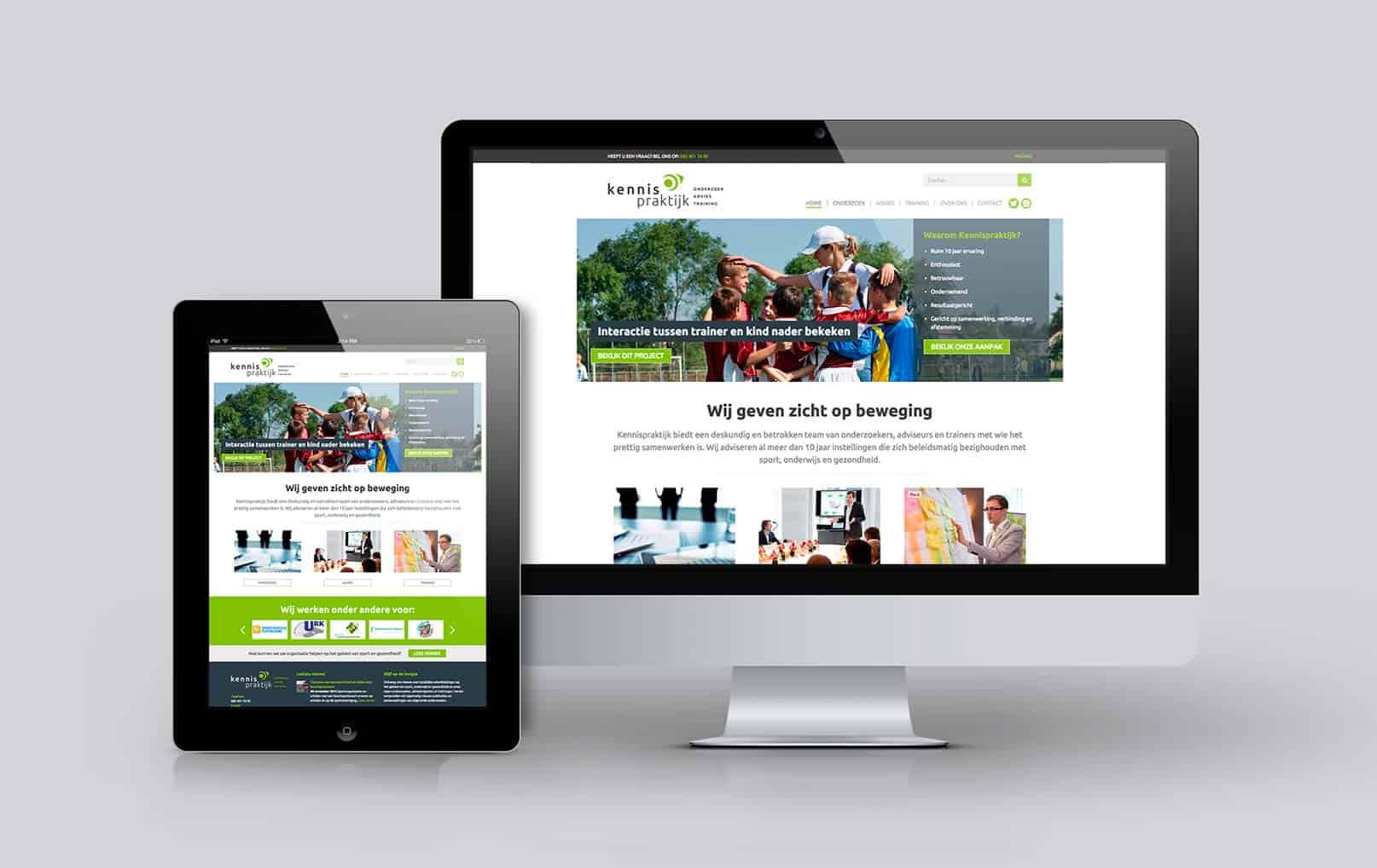 Ontwerp nieuwe responsive website Kennispraktijk