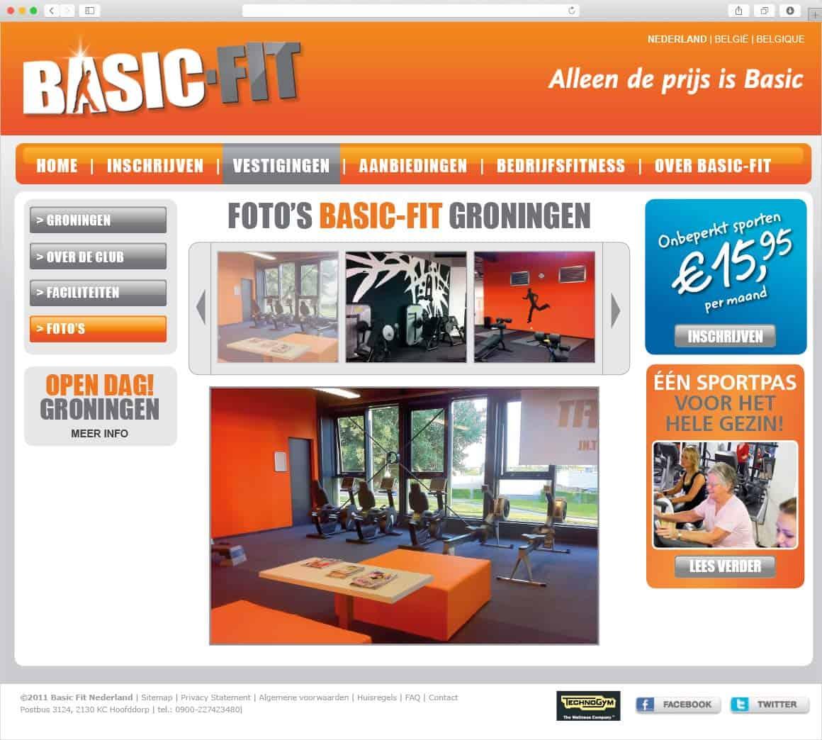 Basic-Fit website design - Fitbrand