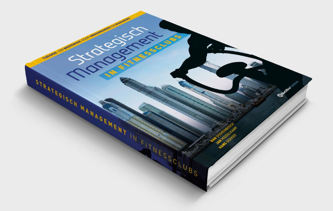 Grafisch ontwerp boek strategisch management in fitnessclubs - Fitbrand