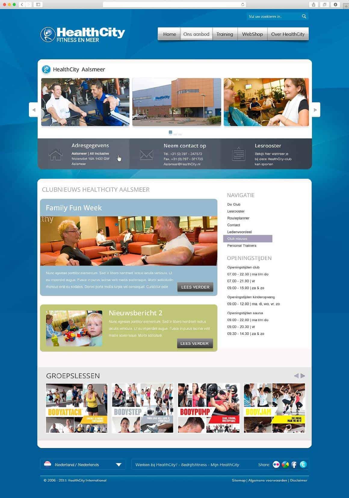 Redesign website HealthCity 2011 - door Fitbrand