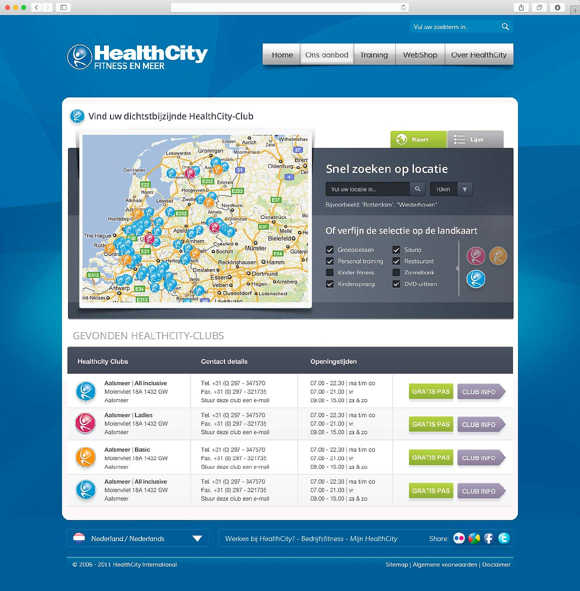 Redesign website HealthCity 2011 - door Fitbrand