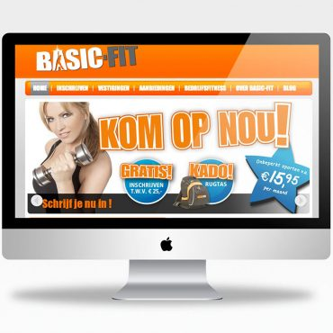 Website design Basic-Fit door fitbrand fitbrandagency branding fotografie webdesign