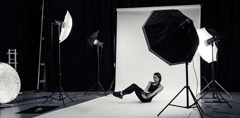 making of studio foto fitness fotoshoot