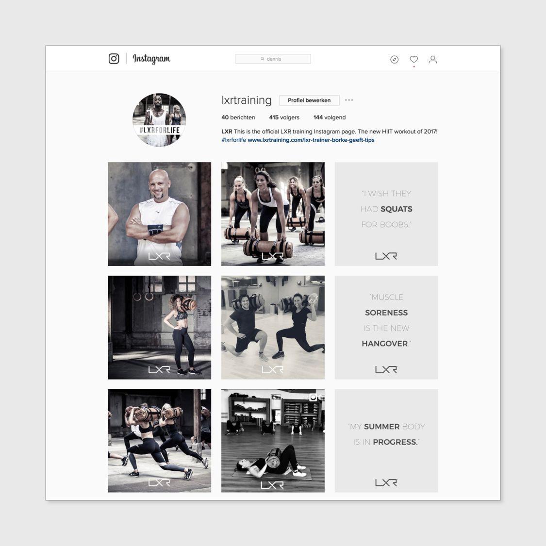 LXR training social media