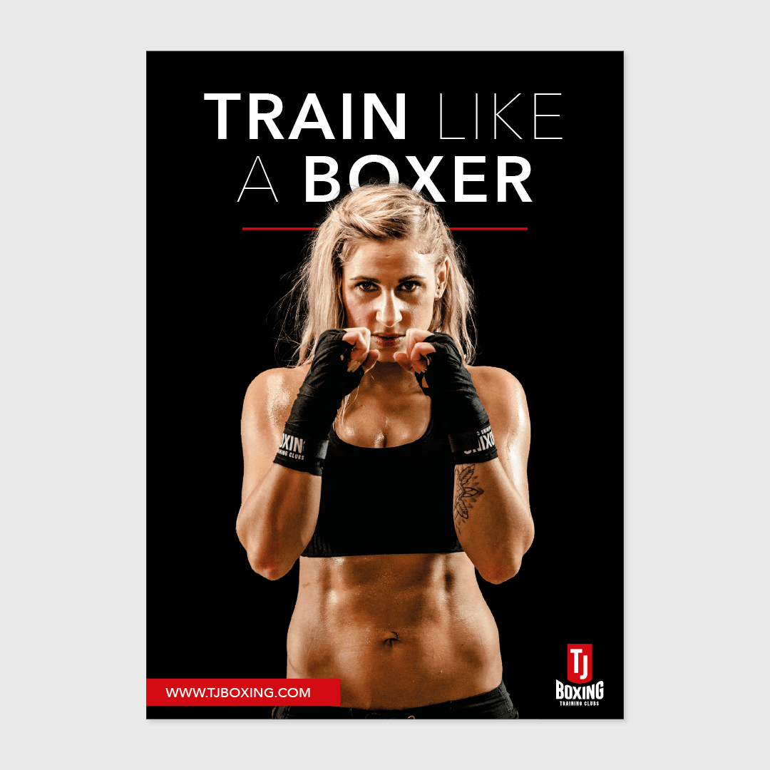 TJ Boxing poster ontwerp