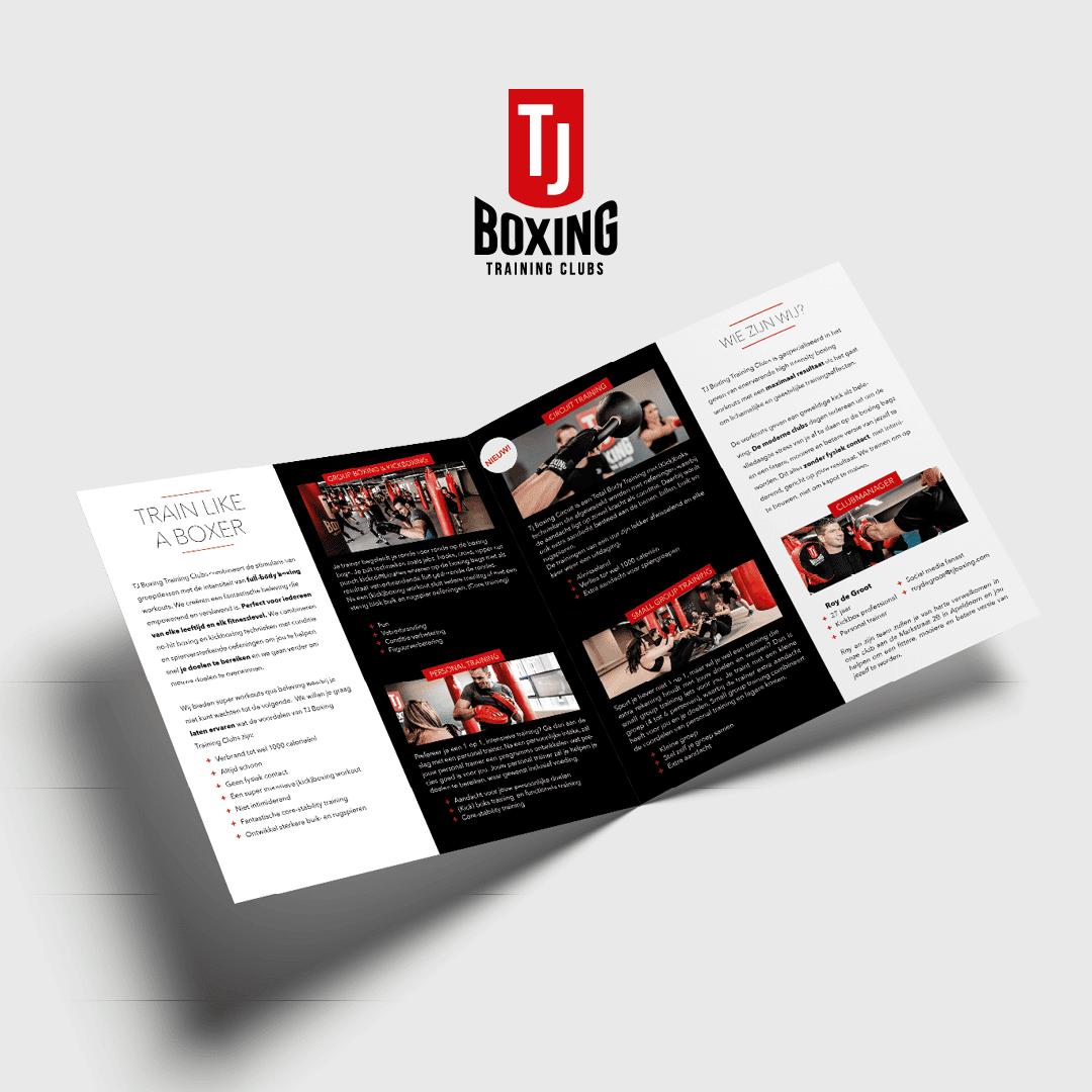 TJ Boxing brochure ontwerp