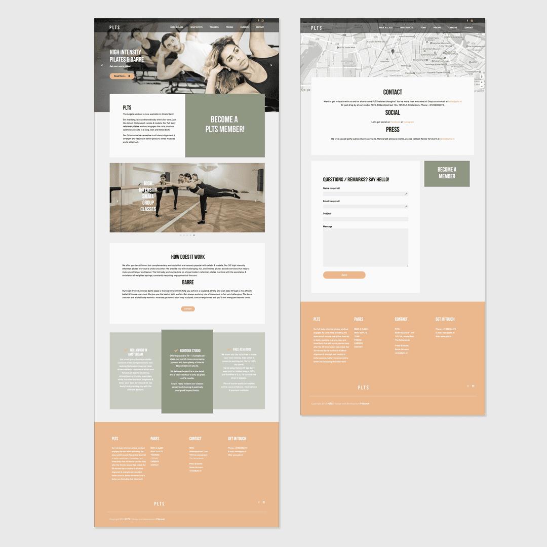 PLTS website design