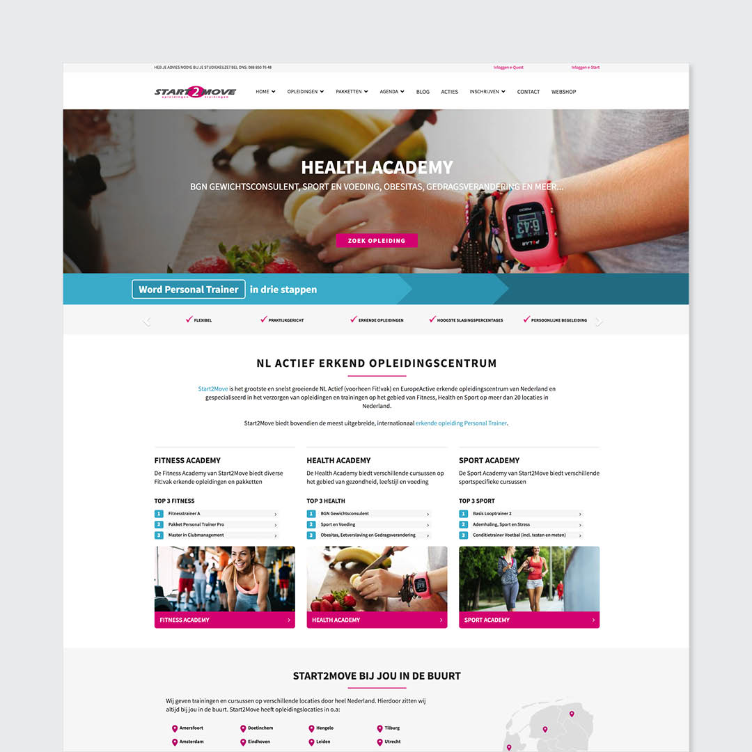 start2move website design