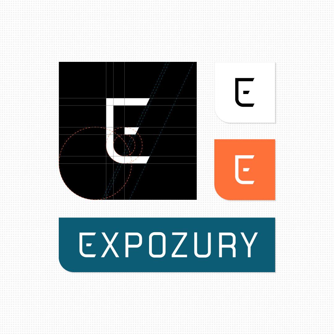 nieuwe merkidentiteit Expozury