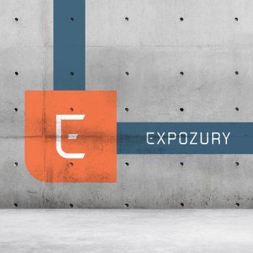 nieuwe merkidentiteit logo expozury