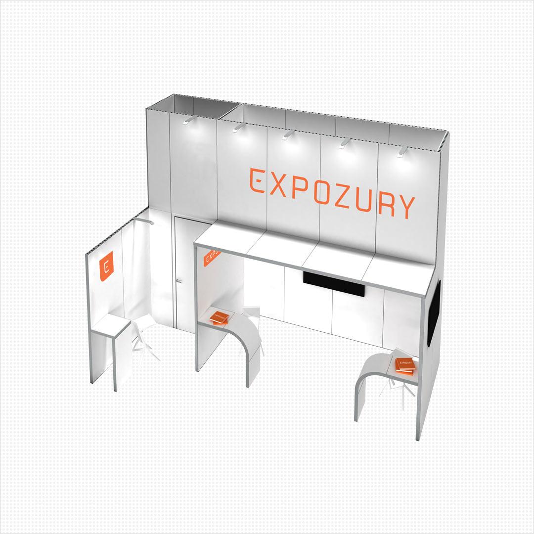 nieuwe merkidentiteit beursstand Expozury