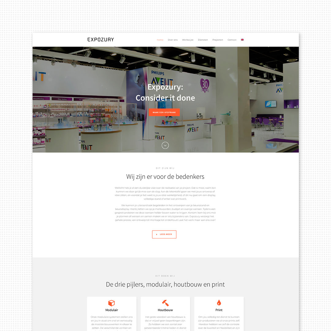 nieuwe merkidentiteit website Expozury