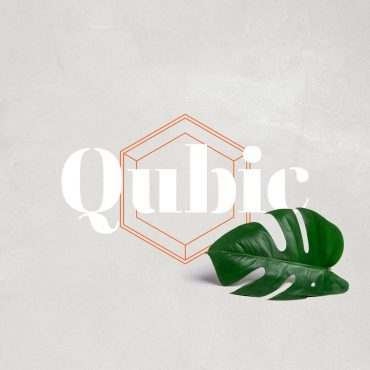 Nieuwe merkidentiteit schaalbare PT concept Qubic