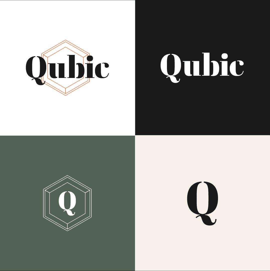 Logo Qubic merkidentiteit