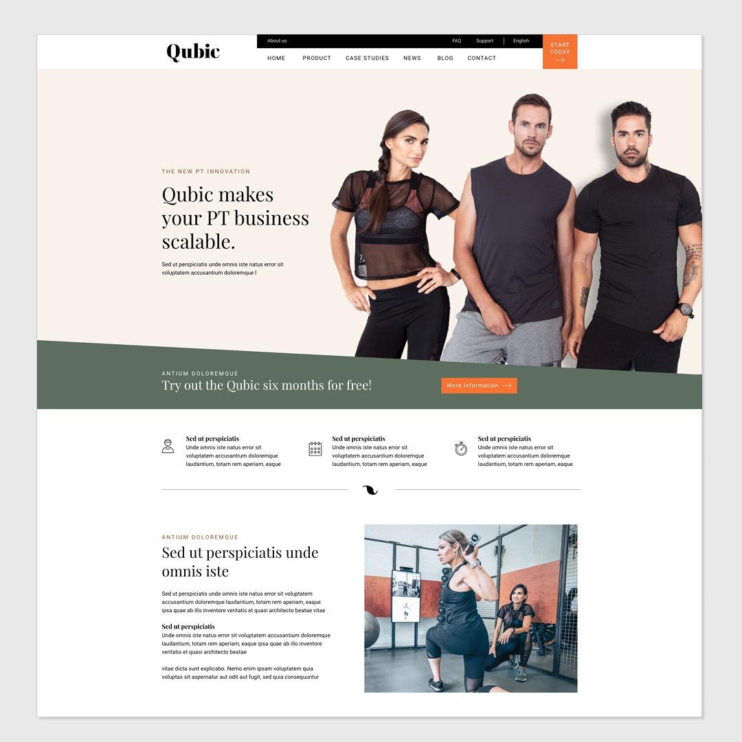 Website merkidentiteit Qubic