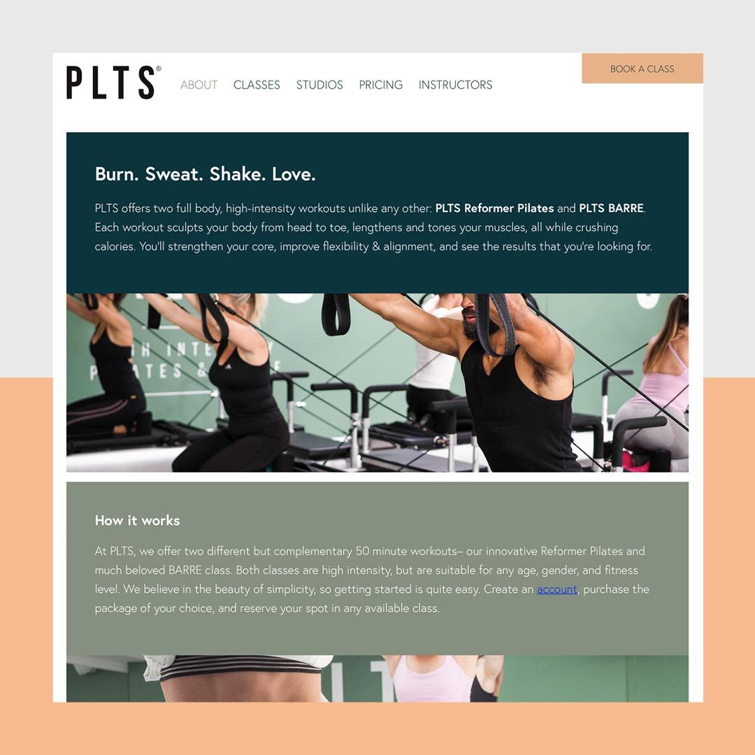 Website ontwerp boutique fitness