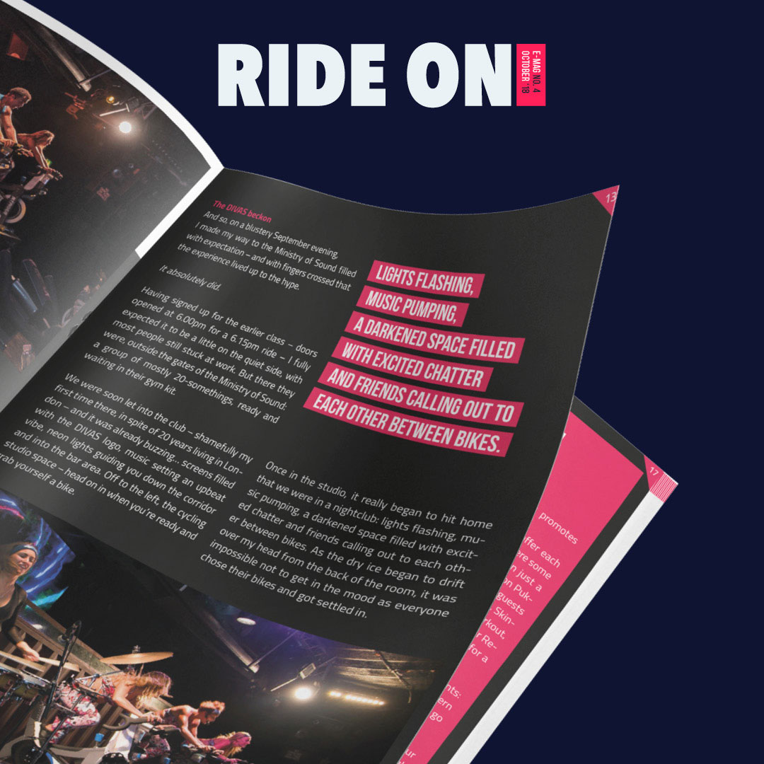 Design ride on magazine ministry of sound