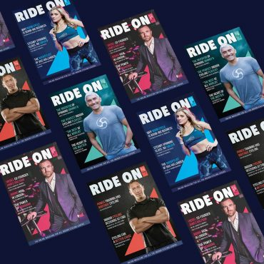 Design cover ride on magazine