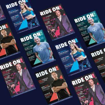 Design cover ride on magazine