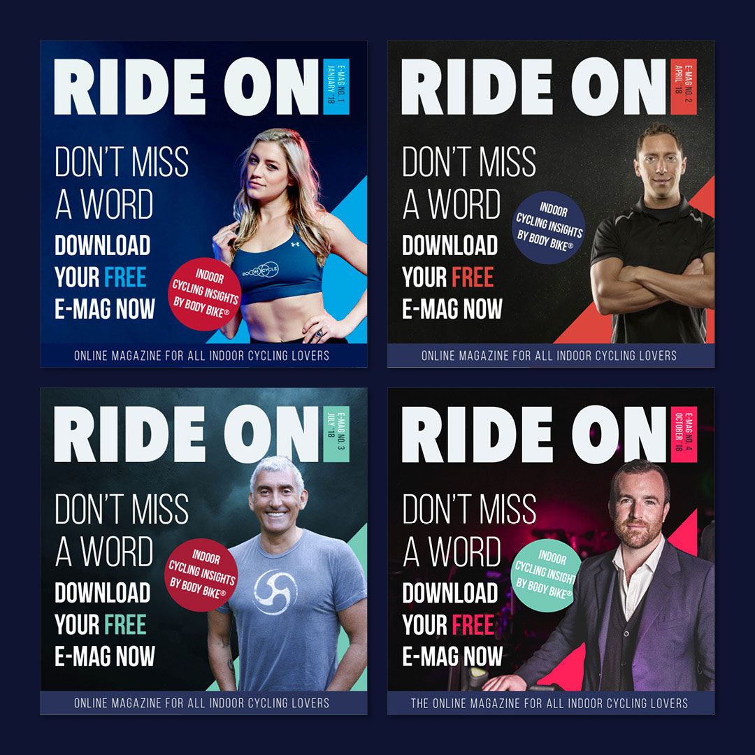 social media banners ride on magazine