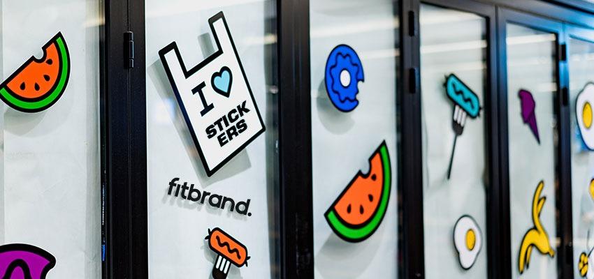 fitbrand sticker marketing