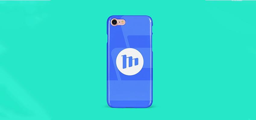logo mockup op phone case