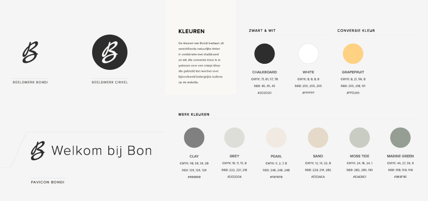 style guide kleuren