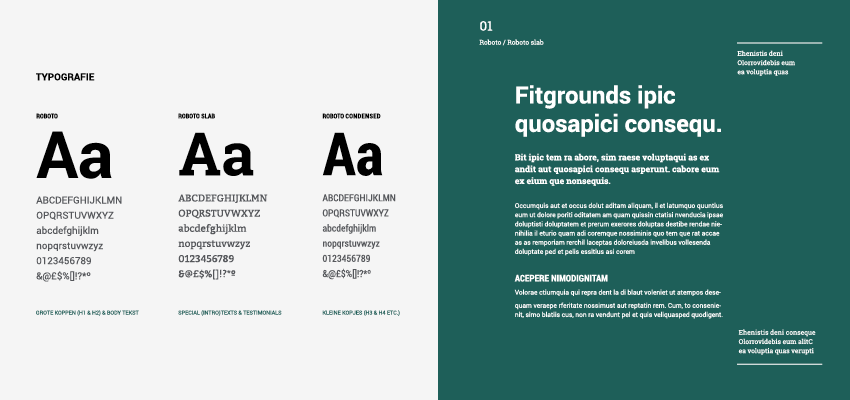 style guide typografie