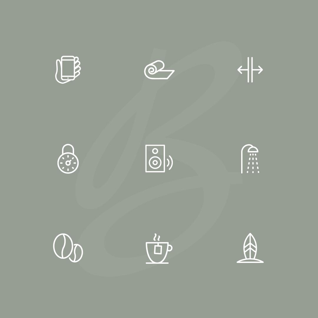 custom icons yoga studio bondi den haag door fitbrand